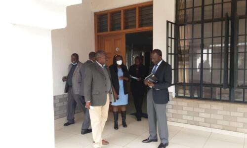 Maj. General (Rtd) Dr. Gordon Kihalangwa, PS, State Department of Public Works Visit to BORAQS Centre.